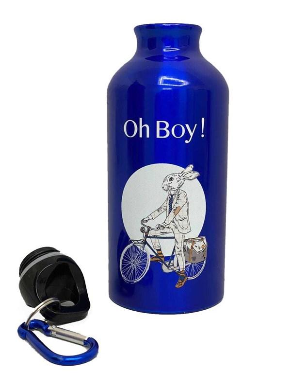 Ohboy_kids Бутылка серая многоразовая с карабином 400 мл - фото 10188