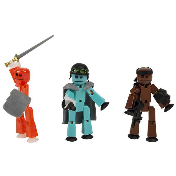 Игрушка 3 фигурки Stikbot Off the Grid, Striker - фото 10264