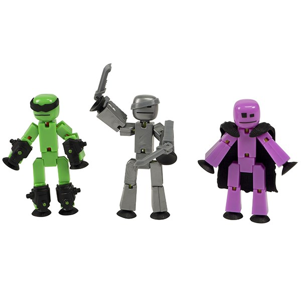 Игрушка 3 фигурки Stikbot Off the Grid, Raptus - фото 10267