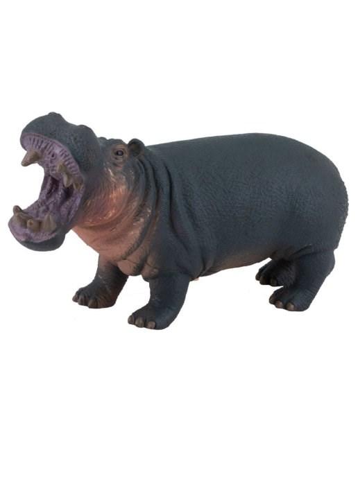 Фигурка мягконабивная Бегемот со звуком - фото 10269