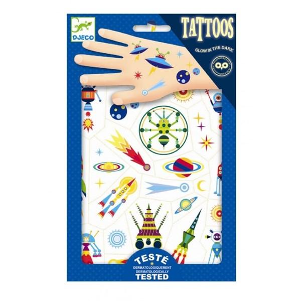 """DJECO Татуировки, светящиеся в темноте""""Космос"""" - фото 10332"""