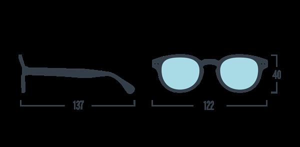 IZIPIZI KIDS Очки #C Для экрана детские JUNIOR Черные/ Black - фото 10341