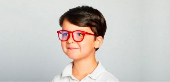 IZIPIZI KIDS Очки #E Для экрана детские JUNIOR  Красные/ Red - фото 10352