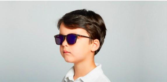 IZIPIZI KIDS Очки #E Солнцезащит. детские JUNIOR Черепаховые зеркальные/ Tortoise Mirror - фото 10355