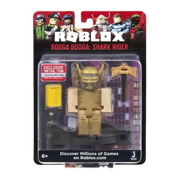 Игрушка Roblox - фигурка героя Booga Booga: Shark Ride (Core) с аксессуарами - фото 10398