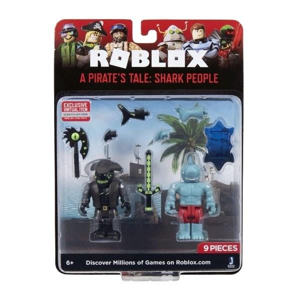Игрушка Roblox - фигурки героев A Pirate's Tale: Shark People 2 шт с аксессуарами - фото 10401