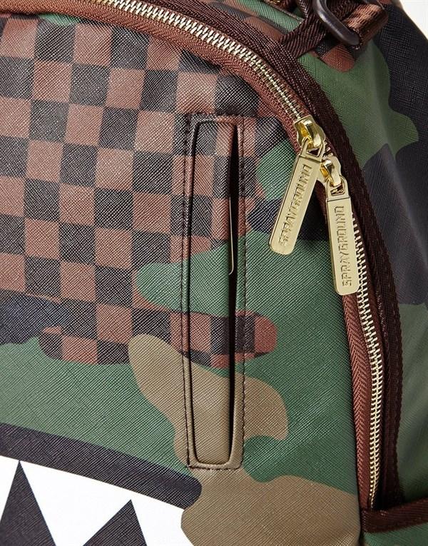 Sprayground Рюкзак CHECKERED CAMO SHARK BACKPACK - фото 10889