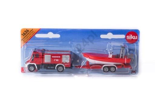 SIKU Машина Пожарная Mercedes с катером (1:87) - фото 11085