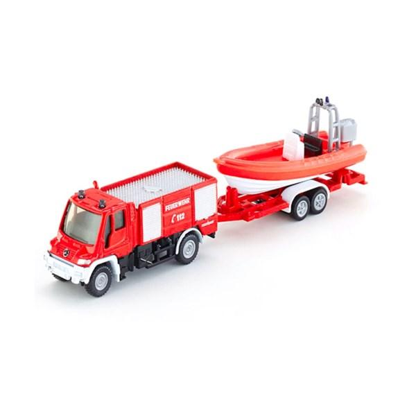 SIKU Машина Пожарная Mercedes с катером (1:87) - фото 11086