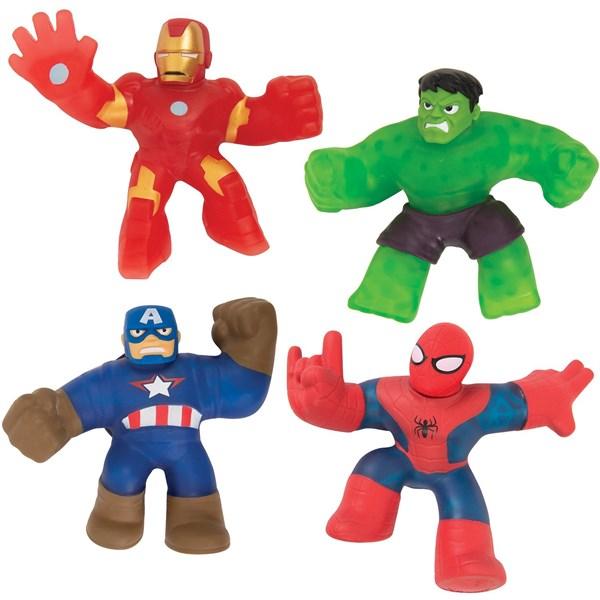 Гуджитсу Игровой набор 4 тянущиеся фигурки Марвел. ТМ GooJitZu - фото 11213
