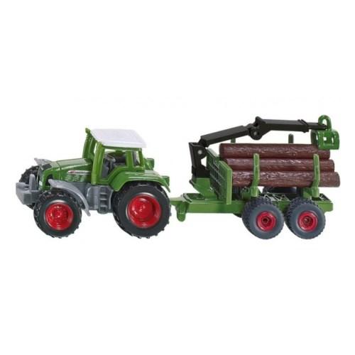 SIKU Трактор Fendt с прицепом для бревен - фото 11246
