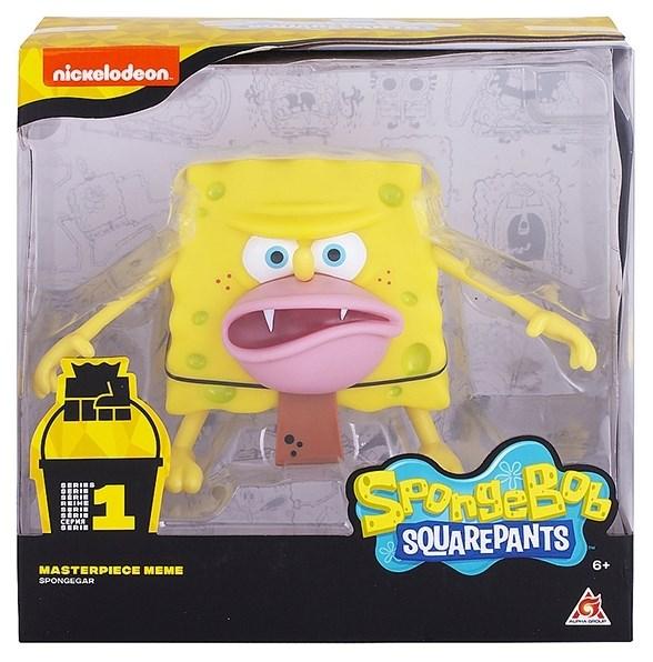 SpongeBob SquarePants игрушка пластиковая 20 см  - Спанч Боб грубый (мем коллекция) - фото 11626