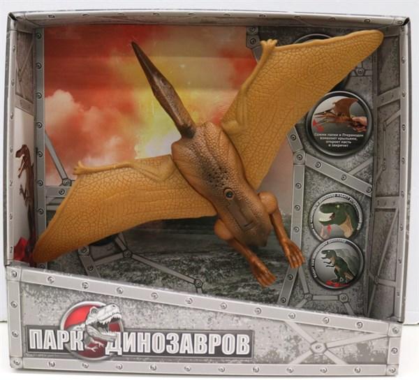 1toy, игрушка интерактивный Динозавр (2*АА входят в компл) свет и звук, коробка 32х29х9,2 см, Птеранодон - фото 11896