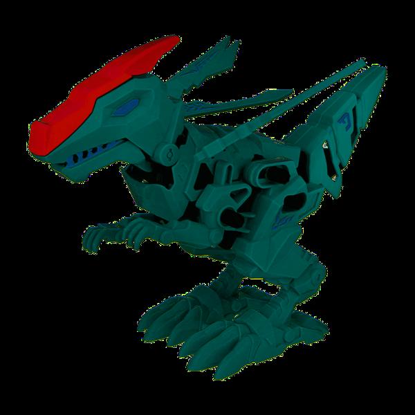 1TOY RoboLife Сборная модель Робо-велоцираптор с крыльями (зеленый) 48деталей,коробка 28*8*21 см  движение, звук эффекты ,  работает от 2 АА бат (в ко - фото 11897