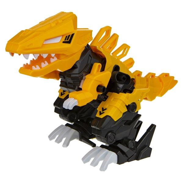 1TOY RoboLife Сборная модель Робо-тираннозавр (желтый) 47 деталей, коробка 28*8*21 см движение, звук эффекты ,  работает от 2 АА бат (в компл не входя - фото 11900