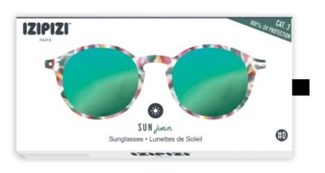 IZIPIZI Очки #D Солнцезащит. детские JUNIOR Зелено-черепаховые зеркальные/ Green Tortoise Mirror - фото 11947