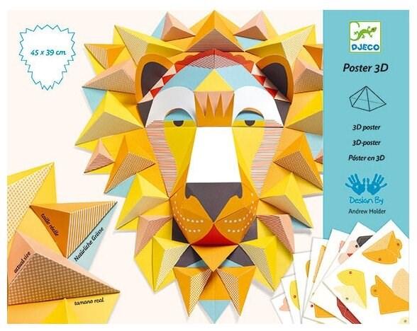 DJECO Набор для творчества Оригами Большие животные - фото 12343