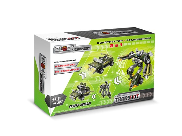"1TOY Blockformers Transbot конструктор ""Крузер-Комбат"", коробка - фото 12361"