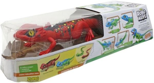 Игрушка Робо-ящерица RoboAlive(Красная), 2 *1,5vAA бат (в компл не входят) 40*13*10см - фото 12363