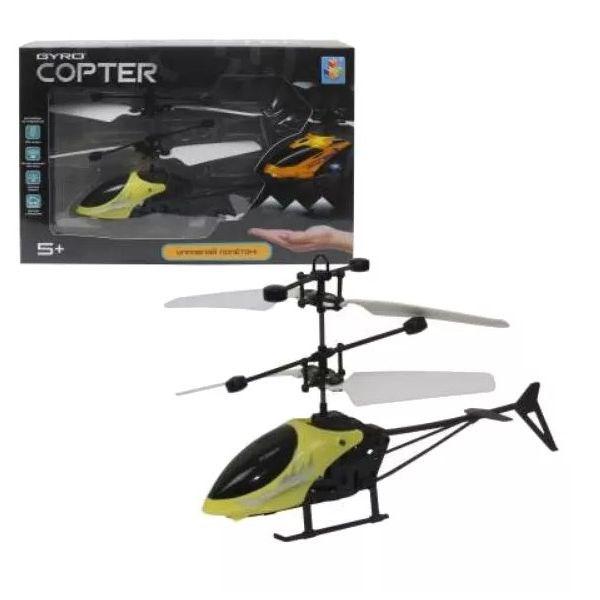 1toy Gyro-Copter, вертолёт на сенсорном управлении, со светом, коробка - фото 12371