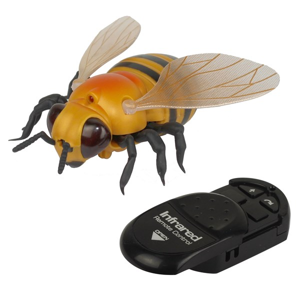 1TOY, Робо-пчела на ИК управлении,свет эффекты,  16,5*5,3*18,6 - фото 12380