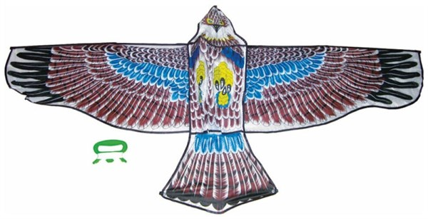 Тилибом Воздушный змей Орел бол. катушка (леер 50м) 160х80см - фото 12382