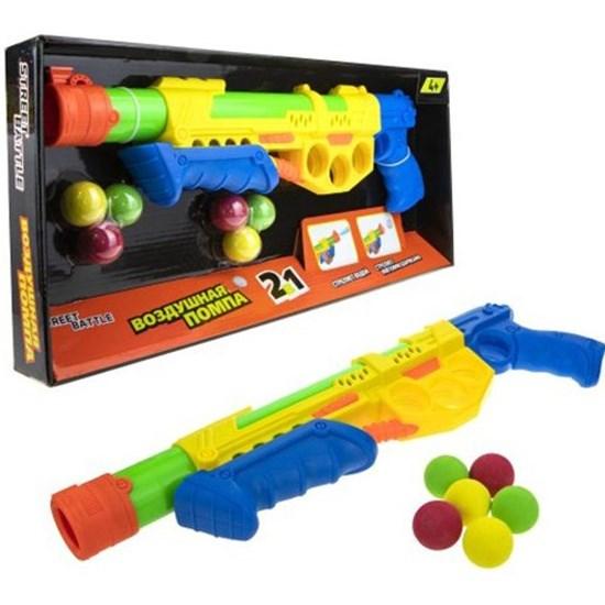 1toy Street Battle игр оружие 2в1 водное с мягкими шариками (43 см, в компл. 6 шар. 2,8 см), коробка - фото 12384