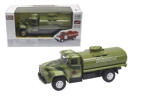 Play Smart 1:52 инерционный металлический грузовик(огнеопасно)-военный 16x6x7,65см - фото 12407