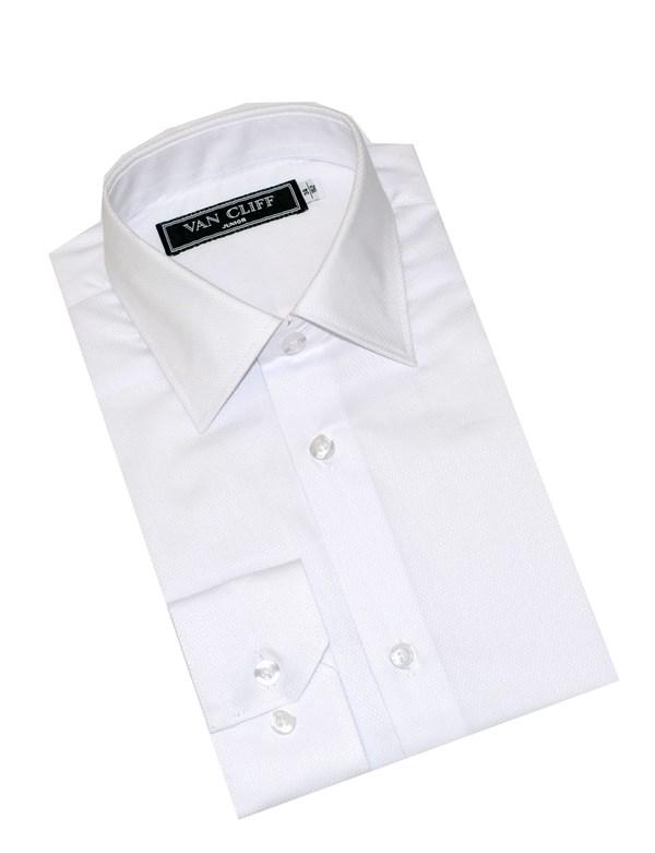 Van Cliff Рубашка дизайн-ромбик белая  СД004ДР - фото 5055