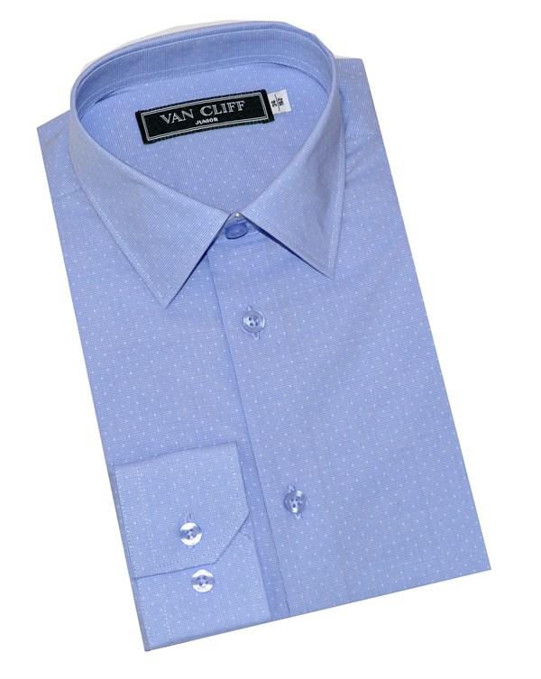 Van Cliff Рубашка дизайн-точка голубой  СД004ДР - фото 5056