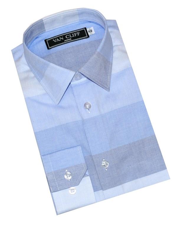 Van Cliff Рубашка широкие полосы голубой СД004ДР - фото 5057