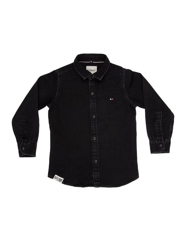 RUFF Рубашка черная джинса - фото 5427