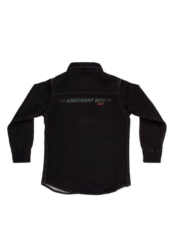 RUFF Рубашка черная джинса - фото 5428