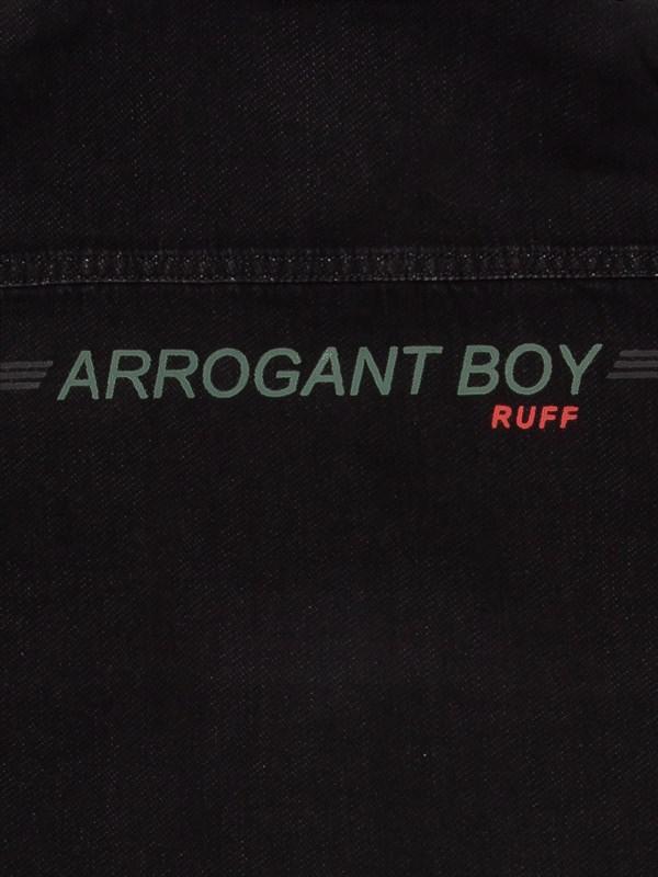 RUFF Рубашка черная джинса - фото 5429