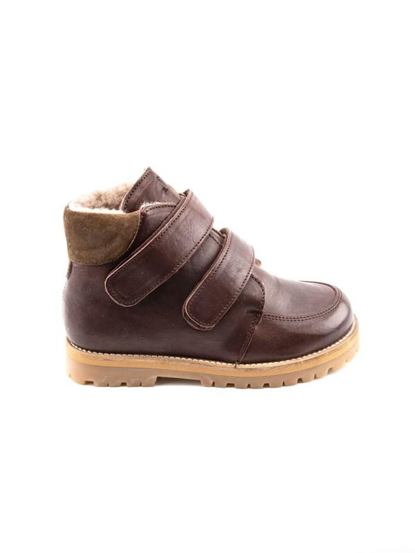 Petit Nord Зимние детские ботинки на липучке, коричневый - фото 5488