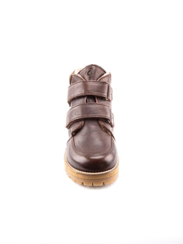 Petit Nord Зимние детские ботинки на липучке, коричневый - фото 5489