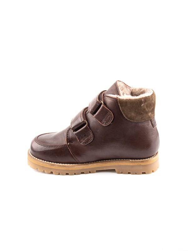 Petit Nord Зимние детские ботинки на липучке, коричневый - фото 5490