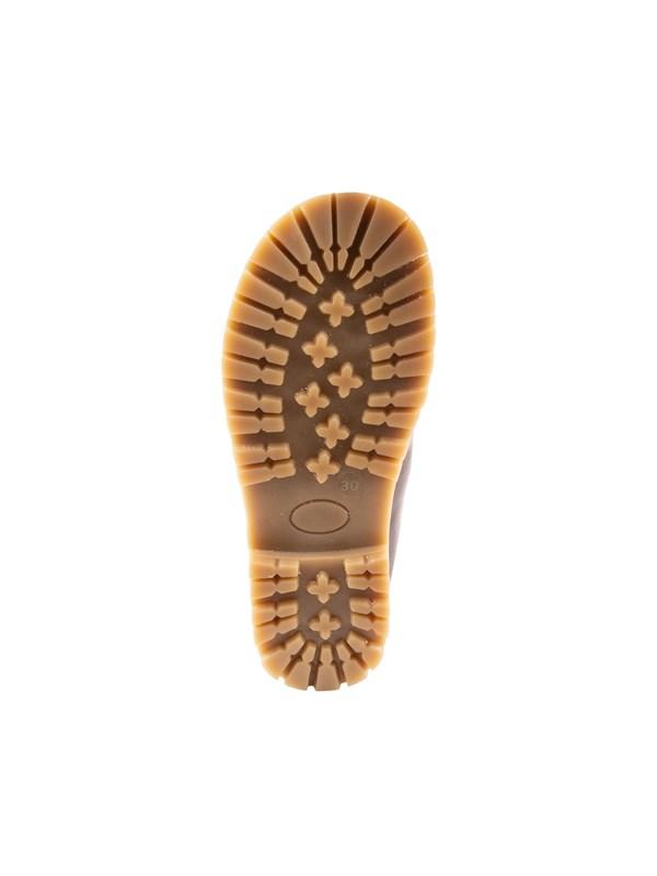 Petit Nord Зимние детские ботинки на липучке, коричневый - фото 5492