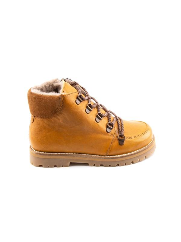 Petit Nord Зимние детские ботинки на шнурках, горчичный - фото 5500