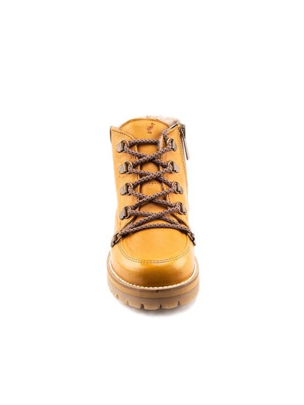 Petit Nord Зимние детские ботинки на шнурках, горчичный - фото 5501
