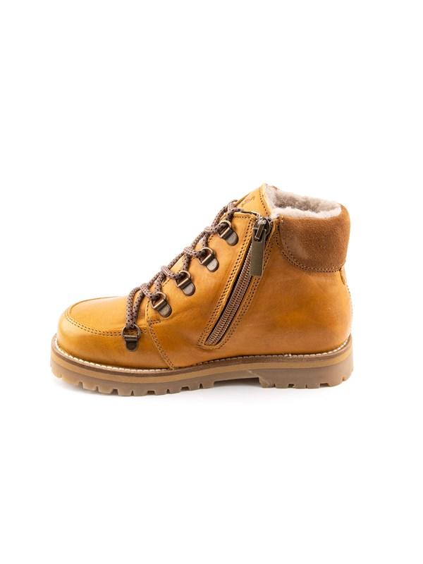 Petit Nord Зимние детские ботинки на шнурках, горчичный - фото 5502