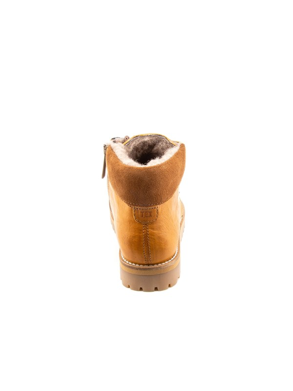 Petit Nord Зимние детские ботинки на шнурках, горчичный - фото 5503