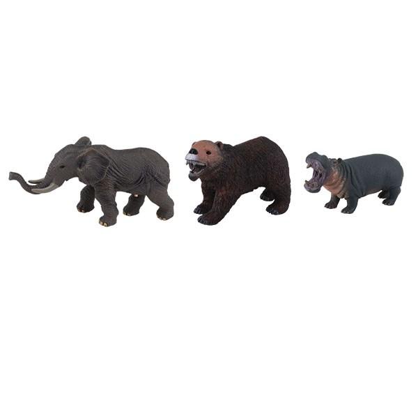 """Фигурка мягконабивная """"Животные"""" со звуком, 3 вида в ассортименте - фото 7839"""