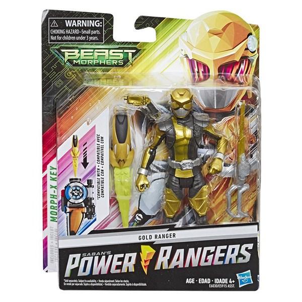 Игрушка HASBRO POWER RANGERS Золотой Рейнджер с боевым ключом - фото 7929