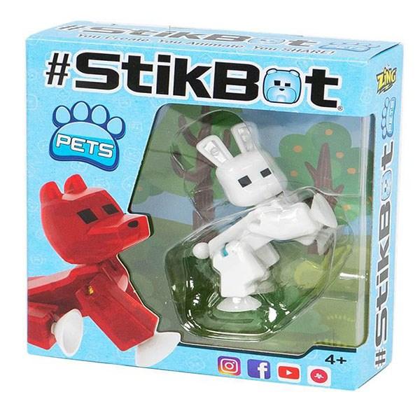 Игрушка Stikbot фигурка питомца, в асс-те 6 видов: заяц, петух, обез, лош, корова, панда - фото 8045