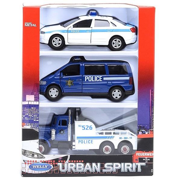 """Игрушка набор машин """"Полиция"""" 3 шт. - фото 8063"""
