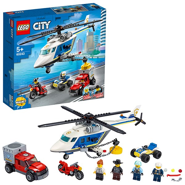 Игрушка Город Погоня на полицейском вертолёте - фото 8091