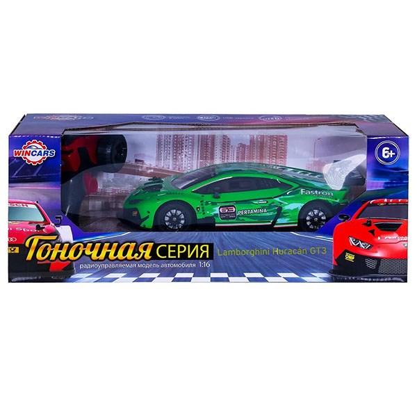 Wincars Lamborghini Huracan GT3 (лицензия), Р/У, масштаб 1:16, USB-зарядка - фото 8136