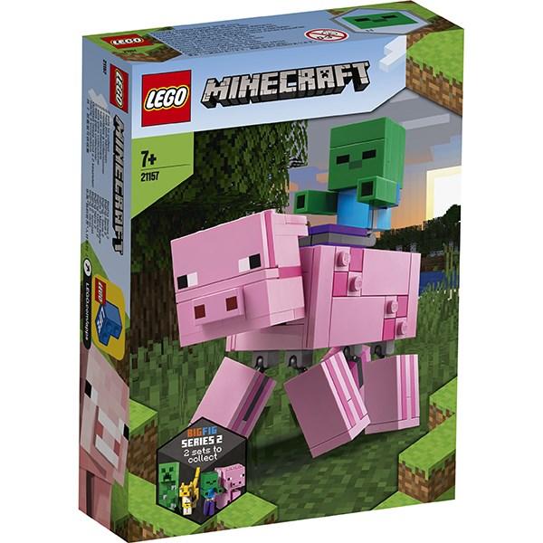 Игрушка Minecraft™ Большие фигурки Minecraft, Свинья и Зомби-ребёнок - фото 8161