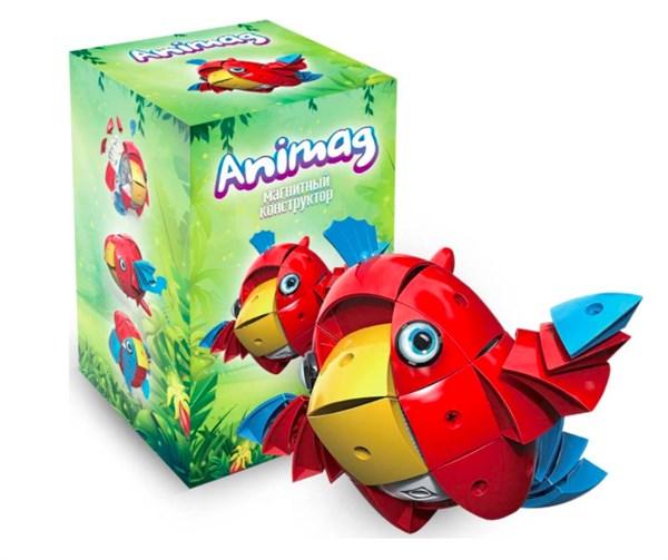 Конструктор детский магнитный Animag Попугай - фото 8192